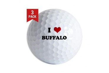 BUFFALO.png Funny Golf Balls by CafePress