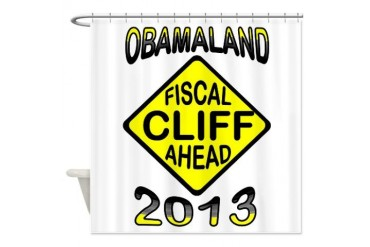FISCAL CLIFF Conservative Shower Curtain by CafePress