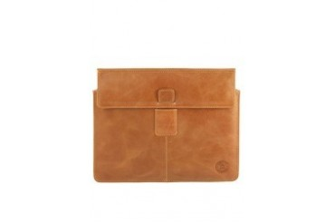 Leather envelope for iPad 2 and new iPad - Golden tan Case