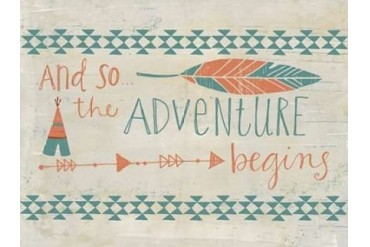 The Adventure Begins Poster Print by Katie Doucette (9 x 12)