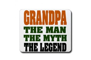 Grandpa - The Legend Funny Mousepad by CafePress