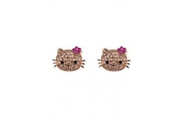 Black Queen Hello Kitty Earrings