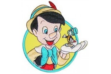 Disney Pinocchio and Jimmy Cricket Patch