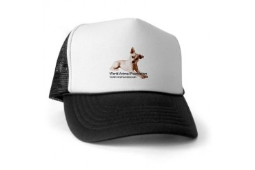 WAF with Dog Dog Trucker Hat by CafePress