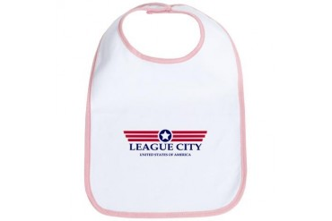 League City Pride Texas Bib by CafePress