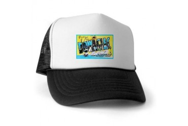 Dowagiac Michigan Greetings Vintage Trucker Hat by CafePress