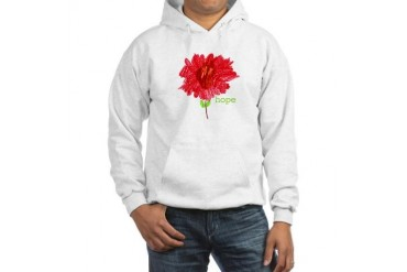 HOPE Breast cancer Hooded Sweatshirt by CafePress