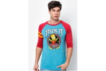 The Simpsons @ urban TEE Stick It Raglan Tee