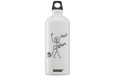 iRock Stick Man with Bald Man Plays Electric Guita Guitar Sigg Water Bottle 1.0L by CafePress