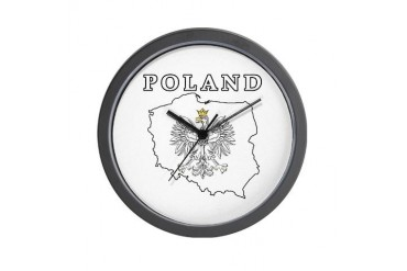 Poland Map With Eagle Polish Wall Clock by CafePress