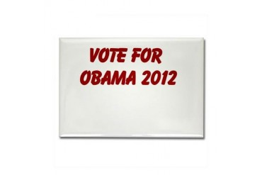 Obama Rectangle Magnet by CafePress