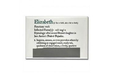 Jane Austen Elizabeth Jane austen Rectangle Magnet by CafePress