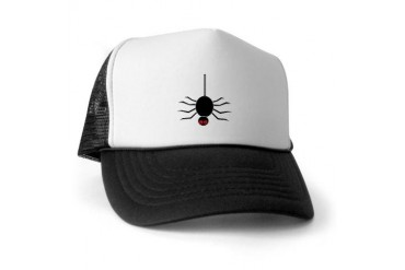 Halloween Spider hanging by a Web Halloween Trucker Hat by CafePress