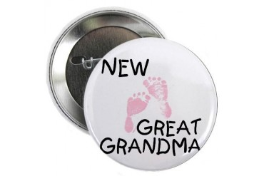 New Great Grandma pink Button New baby 2.25 Button by CafePress