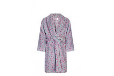 Polka dot fleece gown
