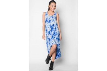 EZRA by ZALORA Dip Hem Tank Midi Dress