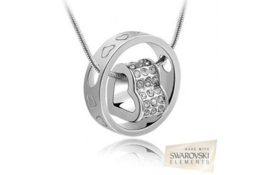Swarovski Elements Forever Heart Pendant