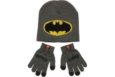 DC Comics Lego Batman Logo Youth Beanie Gloves Set