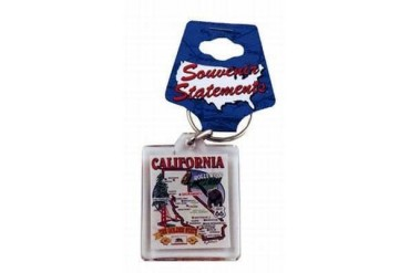 Jenkins California Lucite Keychain- State Map (pack Of 96)