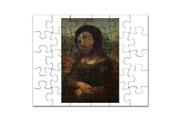 restored Mona Lisa Art Puzzle by CafePress