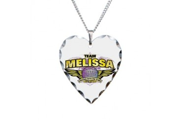 Team Melissa Celebrity Necklace Heart Charm by CafePress