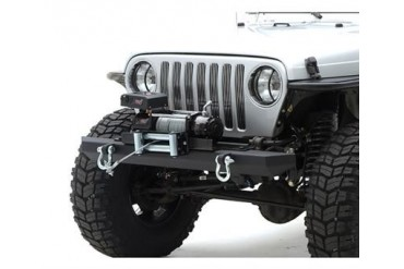Smittybilt SRC Classic Rock Crawler Front Bumper with D-ring Mounts in Matte Black powder Coat 76740D Front Bumpers