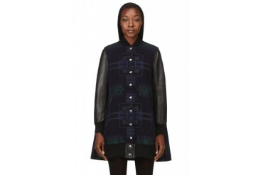 Sacai Luck Navy Oversized Trapeze Bomber Jacket