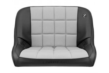 Corbeau Baja Rear Bench Seat in Black Vinyl/ Grey Cloth 63419 Seat