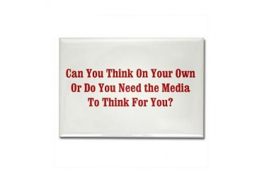 Can You Think Political Rectangle Magnet by CafePress