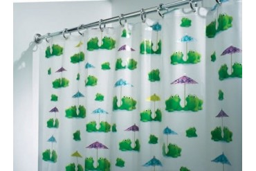 2 Pack Interdesign 26280Eu Shower Curtain Frogs Eva