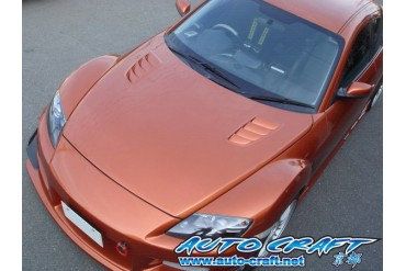 Auto Craft Bonnet 01 Type E - Carbon Mazda RX-8 03-11