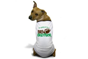 Football Going to be a Big Brother Dog T-Shirt