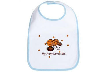 My Aunt Loves Me Sports Baby Sports Bib by CafePress