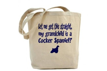 My Grandchild is a Cocker Spaniel Pets Tote Bag by CafePress