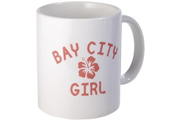Bay City Pink Girl Michigan Mug by CafePress
