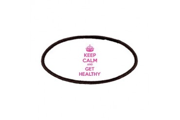 Keep calm and get healthy Funny Patches by CafePress
