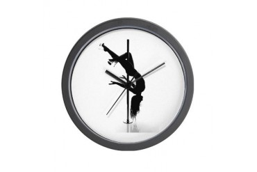 pole dancer 3 Sex Wall Clock by CafePress