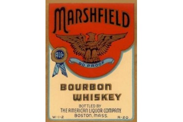 Marshfield Bourbon Whiskey Poster Print by Vintage Booze Labels (18 x 24)
