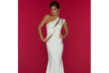 Mac Duggal Black White Red - Style 70000R