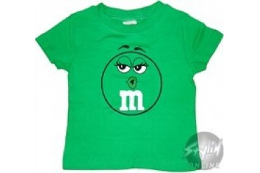 M and M Green Face Toddler T-Shirt