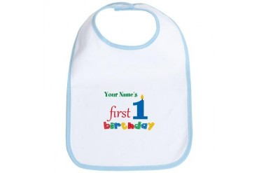 First Birthday - Pe... Bib