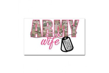 "Army Wife - Multi Cam"" Sticker (Rectangle)"