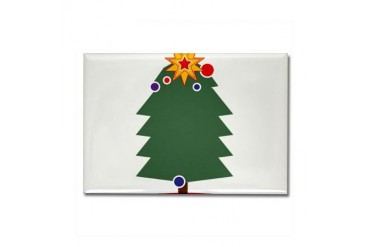 Christmas Tree Christmas Rectangle Magnet by CafePress