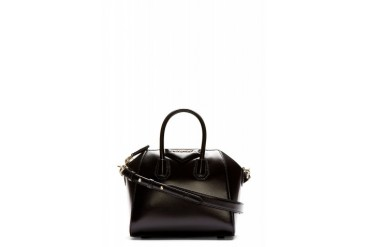 Givenchy Black Leather Sugar Antigona Mini Duffle Bag