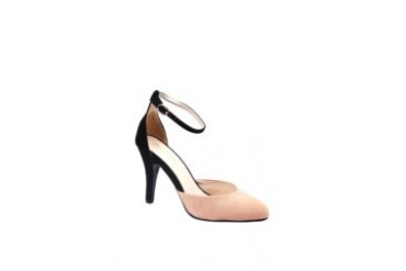 Something Borrowed Collection Emeraude Two Tone Pumps with Ankle Strap