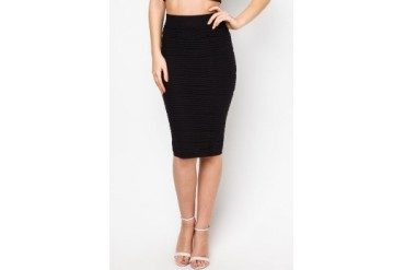 LASH Textured Midi Skirt