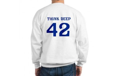 42 Think Deep Dolphin Hitchhikers Movie Sweatshirt by CafePress