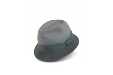 Men's Gray Dip-Dyed Trilby Hat