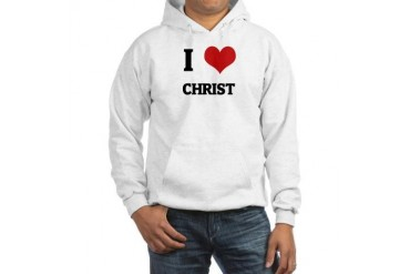 I Love Christ Religion Hooded Sweatshirt by CafePress