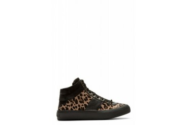 Jimmy Choo Brown Leopard Calf hair Belgravi High top Sneakers